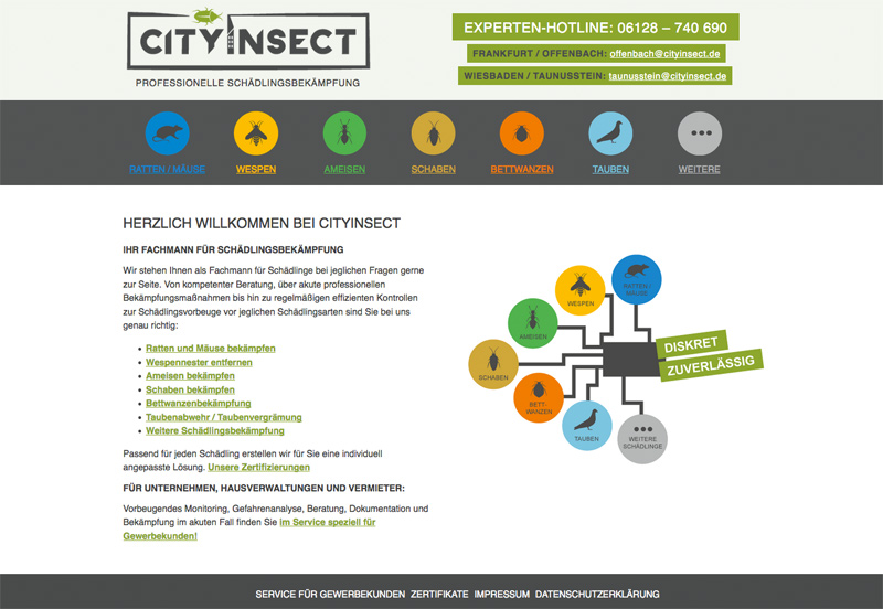 Erstellung der Webseite (responsive)