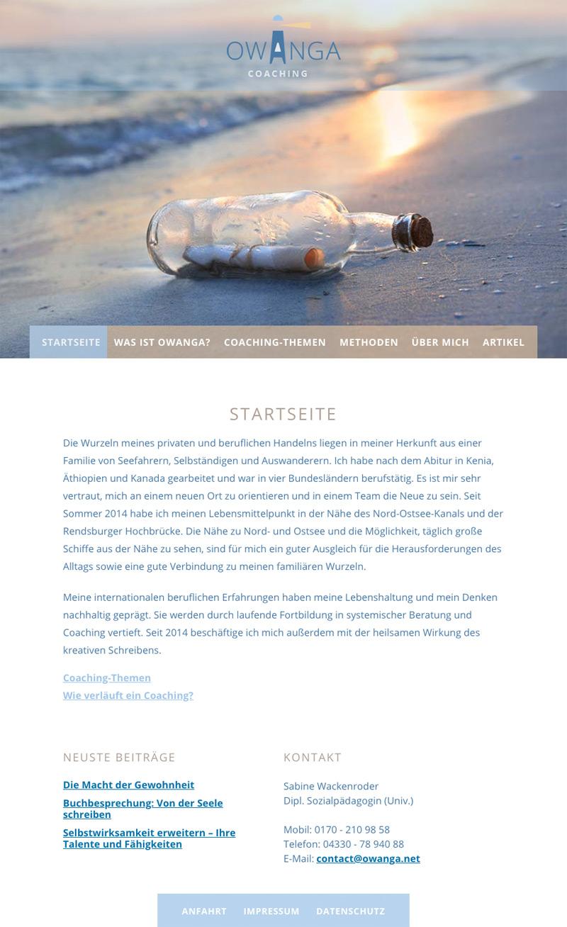 Logo und WordPress-Webseite