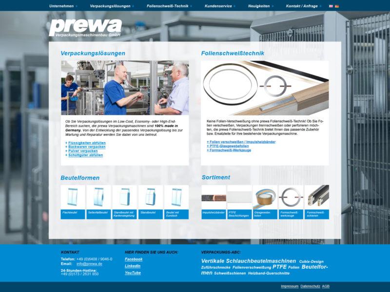 Webseiten-Relaunch für ein Maschinenbau-Unternehmen